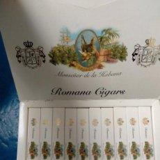 Cajas de Puros: CAJA COMPLETA CON 20 PUROS MONSEÑOR DE LA HABANA ROMANA CIGARS 20 ESPECIALES C . Lote 135566918