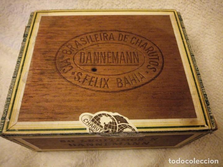 Cajas de Puros: Caja De Madera De puros Cigarros Dannemann Brasileira charutos S Felix Bahía.legitimos n. - Foto 2 - 135613578