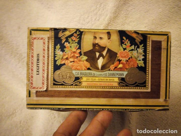 Cajas de Puros: Caja De Madera De puros Cigarros Dannemann Brasileira charutos S Felix Bahía.legitimos n. - Foto 4 - 135613578