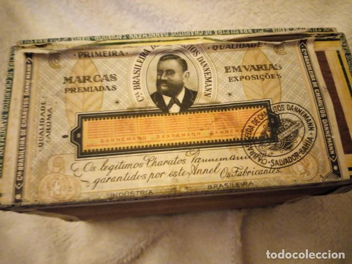 Cajas de Puros: Caja De Madera De puros Cigarros Dannemann Brasileira charutos S Felix Bahía.legitimos n. - Foto 6 - 135613578