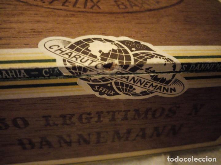Cajas de Puros: Caja De Madera De puros Cigarros Dannemann Brasileira charutos S Felix Bahía.legitimos n. - Foto 7 - 135613578
