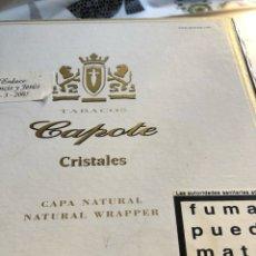 Cajas de Puros: LOTE DE 9 PUROS CAPOTE. Lote 136114148
