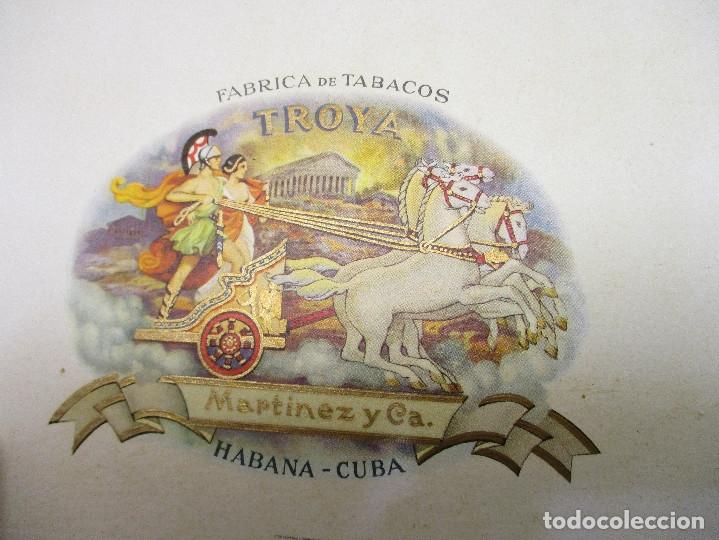 Cajas de Puros: caja de puros TROYA, MARTINEZ Y CIA, HABANA, CUBA, con varios puros MONTECRISTO, ALVARO,... - Foto 4 - 136193440