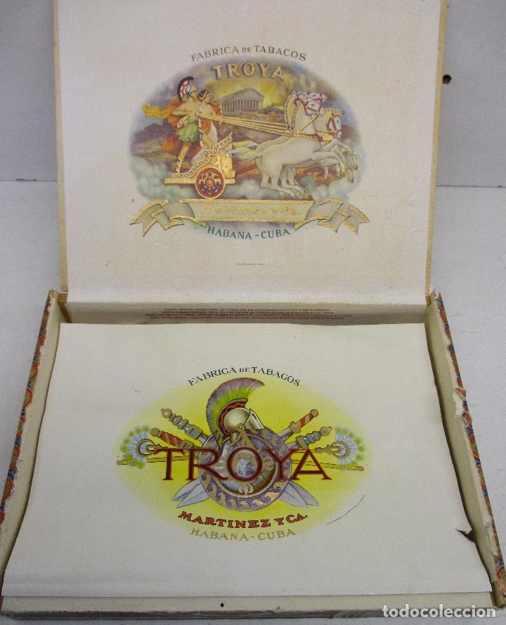 Cajas de Puros: caja de puros TROYA, MARTINEZ Y CIA, HABANA, CUBA, con varios puros MONTECRISTO, ALVARO,... - Foto 5 - 136193440
