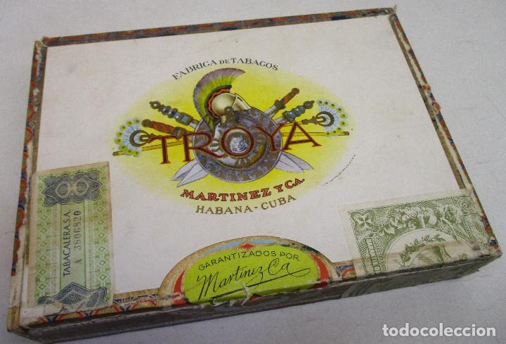 Cajas de Puros: caja de puros TROYA, MARTINEZ Y CIA, HABANA, CUBA, con varios puros MONTECRISTO, ALVARO,... - Foto 6 - 136193440