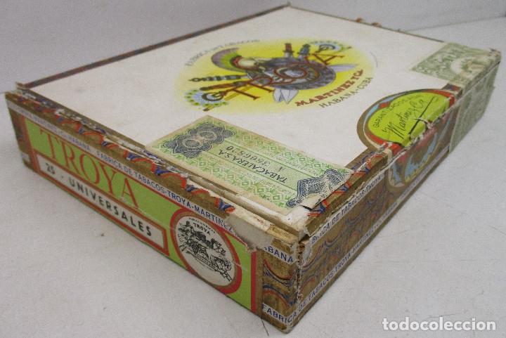 Cajas de Puros: caja de puros TROYA, MARTINEZ Y CIA, HABANA, CUBA, con varios puros MONTECRISTO, ALVARO,... - Foto 7 - 136193440