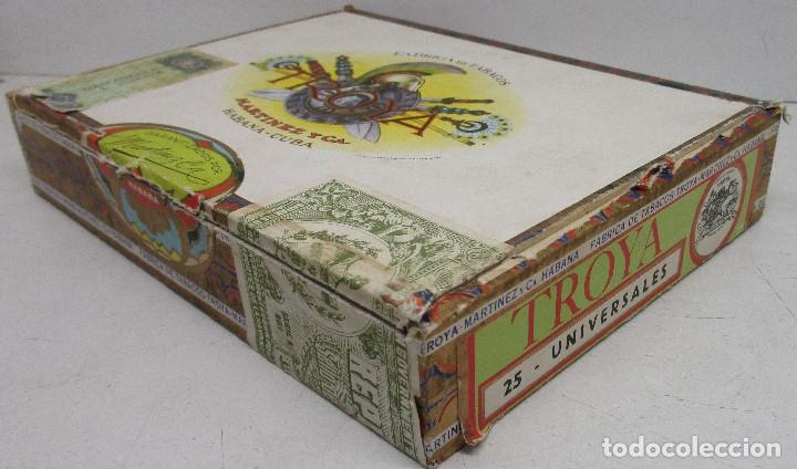 Cajas de Puros: caja de puros TROYA, MARTINEZ Y CIA, HABANA, CUBA, con varios puros MONTECRISTO, ALVARO,... - Foto 8 - 136193440