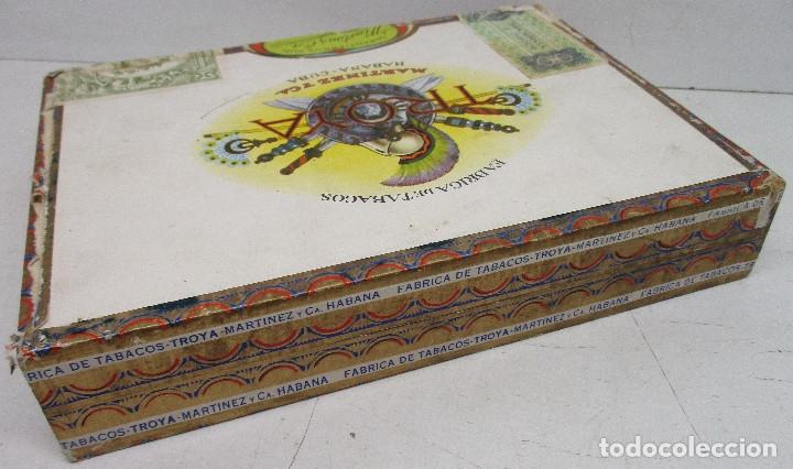Cajas de Puros: caja de puros TROYA, MARTINEZ Y CIA, HABANA, CUBA, con varios puros MONTECRISTO, ALVARO,... - Foto 9 - 136193440