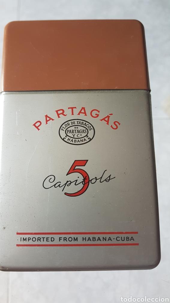 CAJA DE PUROS PARTAGAS 5 CAPITOLS HAVANA CUBA (Coleccionismo - Objetos para Fumar - Cajas de Puros)