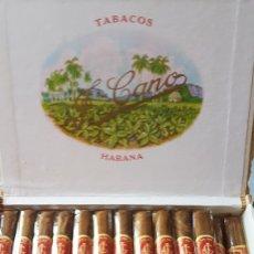 Cajas de Puros: CAJA DE PUROS FLOR DE CANO PREFERIDOS HABANA CUBA. Lote 136378138