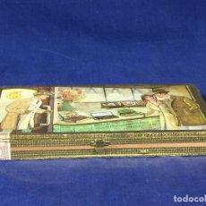 Cajas de Puros: CAJA DOS PUROS FORMA PIPA CIGAR PIPE BRAZIL TRULLERIE MALSCH HEIDELBERG WEST GERMANY 2,5X13X25CMS. Lote 136669134