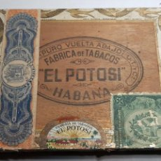 Cajas de Puros: CAJA 25 PANETELAS FABRICA DE TABACOS - EL POTOSI - HABANA - CUBA. Lote 137161850