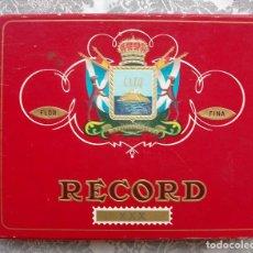 Cajas de Puros: CAJA DE PUROS RECORD XXX FLOR FINA C.I.T.A CAJA VACIA . Lote 137384970