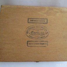 Cajas de Puros: CAJA DE PUROS - VACIA - CECILIA - TABACALERA VERACRUZANA MEXICO - 27X20X5. Lote 137882014