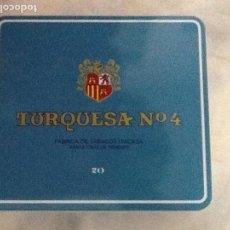 Cajas de Puros: CAJA DE TABACO CIGARROS PUROS TURQUESA Nº 4, LLENA CON 20 UNIDADES. VER FOTOS.. Lote 138057930