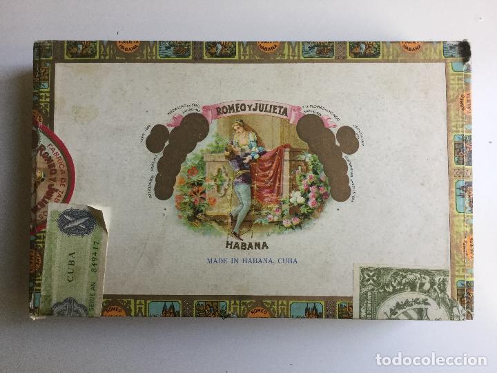 CAJA DE PUROS ROMEO Y JULIETA HABANA CUBA (Coleccionismo - Objetos para Fumar - Cajas de Puros)