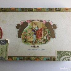 Cajas de Puros: CAJA DE PUROS ROMEO Y JULIETA HABANA CUBA. Lote 138873966