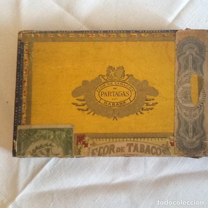 CAJA PUROS HABANOS VACÍA PARTAGAS (Coleccionismo - Objetos para Fumar - Cajas de Puros)