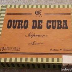 Cajas de Puros: CAJA DE PUROS, OURO DE CUBA, VER DESCRIPCION Y FOTOS. Lote 139460098