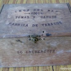 Cajas de Puros: CAJA DE TABACO - DE MADERA - CRUZ DEL MAR TOMAS Y. CAPOTE FABRICA DE TABACOS FLOR FINA. Lote 139590666