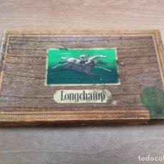Cajas de Puros: CAJA CIGARROS CIGARRILLOS PUROS FRANCESES MARCA LONGCHAMP . Lote 140549926