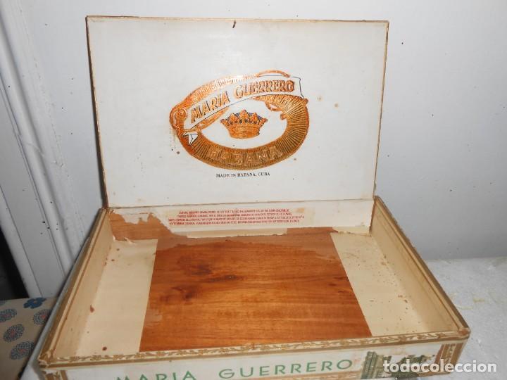 Cajas de Puros: Caja MARIA GUERRERO -20 Cedros de Luxe Nº 2 -Made in Habana - Foto 3 - 141203674