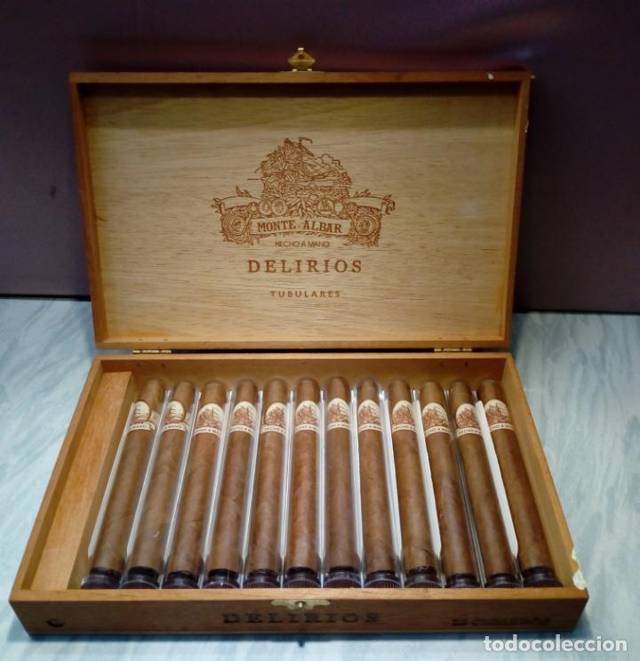 CAJA DE PUROS MONTE ALBAR - DELIRIOS - 12 PUROS (Coleccionismo - Objetos para Fumar - Cajas de Puros)