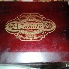 Cajas de Puros: CAJA PUROS VACIA TABACOS DE TABACALERA ZAPATA HONDURAS. Lote 142261350
