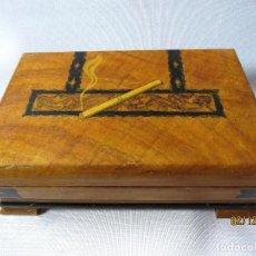 Cajas de Puros: CIGARRERA Y PURERA EN MADERA DE RAIZ CON MUSICA . Lote 142353042
