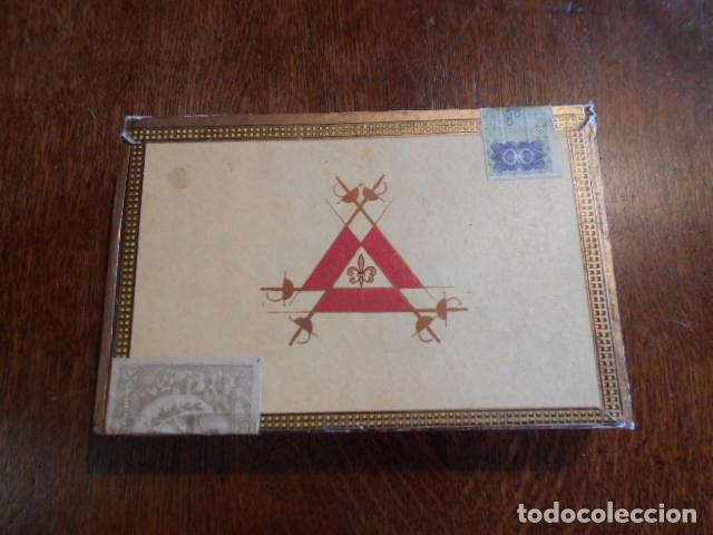 CAJA DE PUROS VACIA, MONTECRISTO Nº 4 , HABANA CUBA (Coleccionismo - Objetos para Fumar - Cajas de Puros)