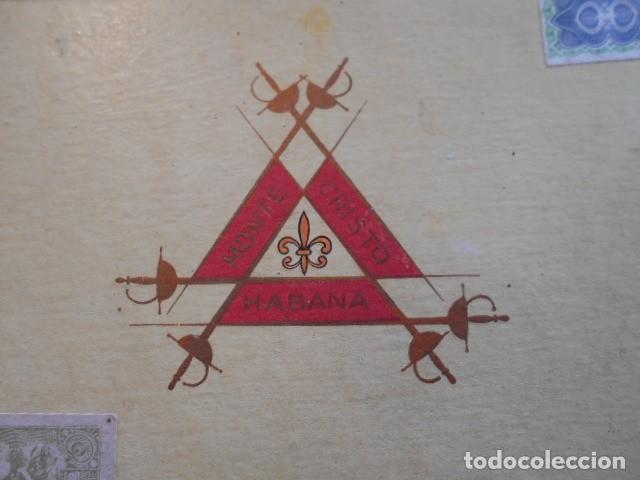 Cajas de Puros: CAJA DE PUROS VACIA, MONTECRISTO Nº 4 , HABANA CUBA - Foto 5 - 142529414