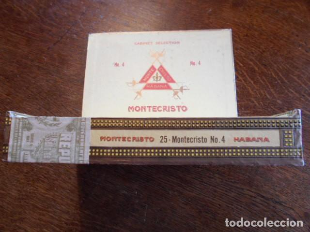 Cajas de Puros: CAJA DE PUROS VACIA, MONTECRISTO Nº 4 , HABANA CUBA - Foto 8 - 142529414