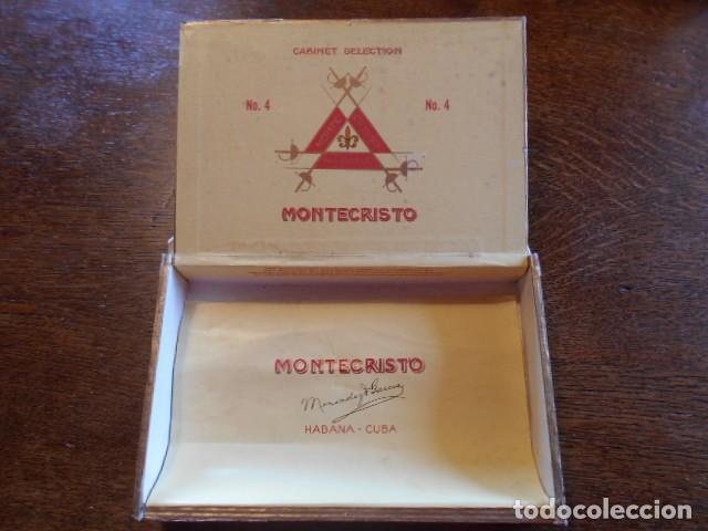 Cajas de Puros: CAJA DE PUROS VACIA, MONTECRISTO Nº 4 , HABANA CUBA - Foto 10 - 142529414