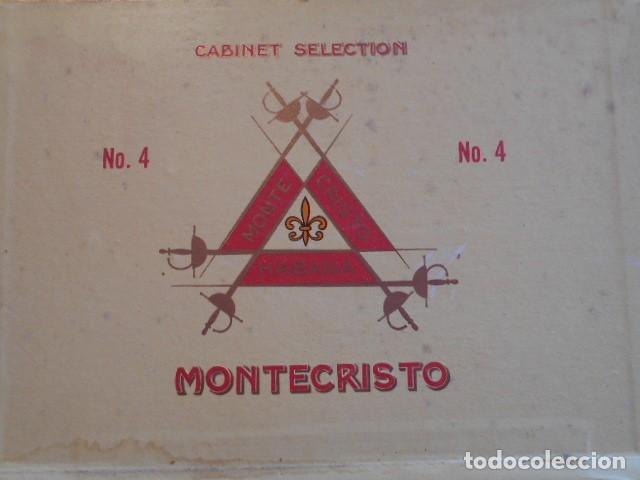 Cajas de Puros: CAJA DE PUROS VACIA, MONTECRISTO Nº 4 , HABANA CUBA - Foto 11 - 142529414