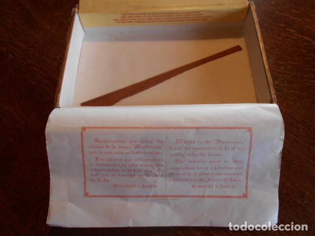 Cajas de Puros: CAJA DE PUROS VACIA, MONTECRISTO Nº 4 , HABANA CUBA - Foto 13 - 142529414
