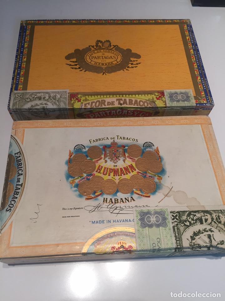 2 CAJAS DE PUROS PARTAGAS Y H.UPMANN (Coleccionismo - Objetos para Fumar - Cajas de Puros)