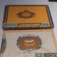 Cajas de Puros: 2 CAJAS DE PUROS PARTAGAS Y H.UPMANN. Lote 142832245