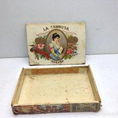 Cajas de Puros: RARA CAJA DE PUROS HABANOS LA SABROSA - PEREZ Y HNOS.. Lote 143584146