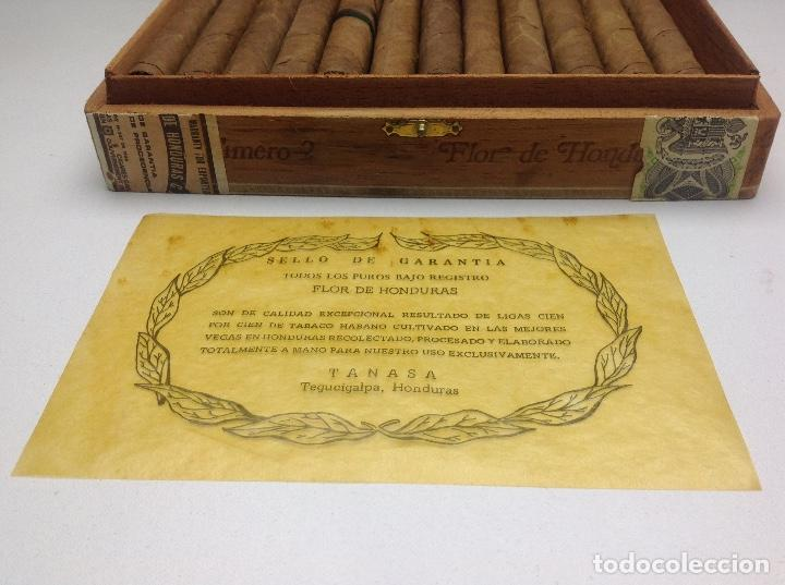 Cajas de Puros: CAJA CON 24 PUROS FLOR DE HONDURAS - TANASA N° 2 - HECHO A MANO - Foto 4 - 144107258