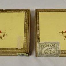 Cajas de Puros: DOS CAJAS DE PUROS MONTECRISTO NÚMERO 4 VACÍAS.. Lote 144992962