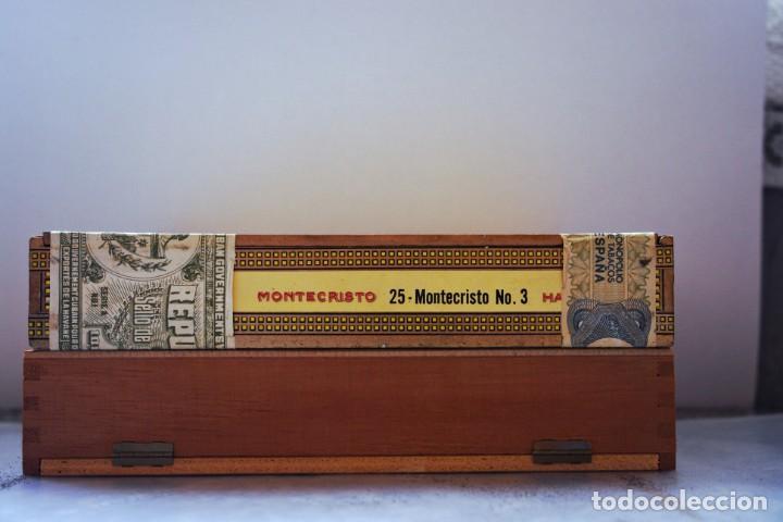 Cajas de Puros: PARA COLECCIONISTAS: CAJA DE PUROS HABANOS MONTECRISTO SIN ESTRENAR DE 1.990 - Foto 2 - 145207154
