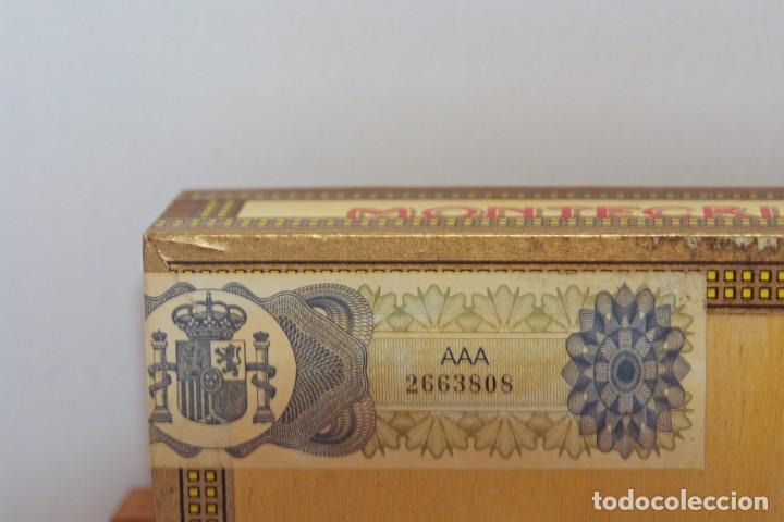 Cajas de Puros: PARA COLECCIONISTAS: CAJA DE PUROS HABANOS MONTECRISTO SIN ESTRENAR DE 1.990 - Foto 6 - 145207154