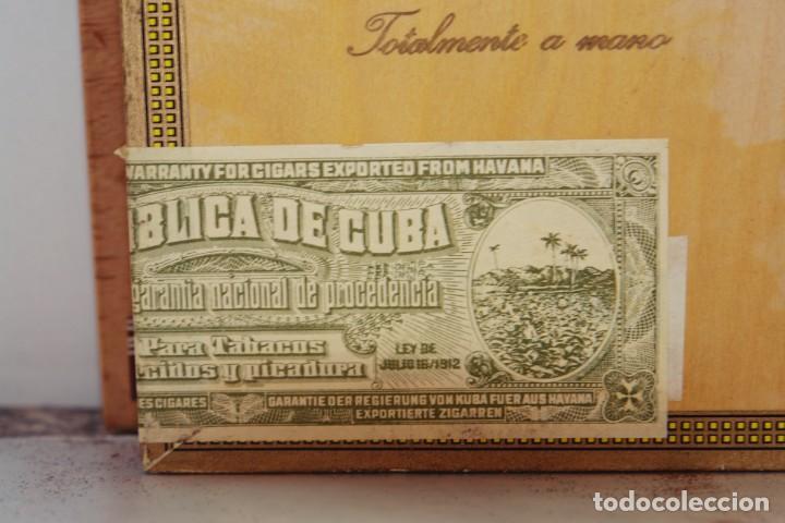 Cajas de Puros: PARA COLECCIONISTAS: CAJA DE PUROS HABANOS MONTECRISTO SIN ESTRENAR DE 1.990 - Foto 7 - 145207154