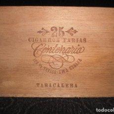 Cajas de Puros: ANTIGUO CAJA MADERA FARIAS HABANA VACIAS CENTENARIO TABACALERA 25. Lote 145209358
