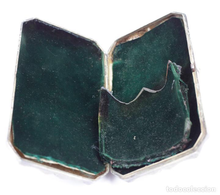 Cajas de Puros: Purera de plata repujada, siglo XIX. 14x8cm - Foto 4 - 145318674