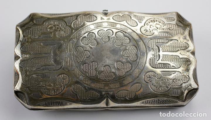 Cajas de Puros: Purera de plata repujada, siglo XIX. 14x8cm - Foto 6 - 145318674