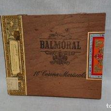 Cajas de Puros: CAJA DE PUROS VACÍA BALMORAL - 10 CORONA MARISCALES . Lote 145421594