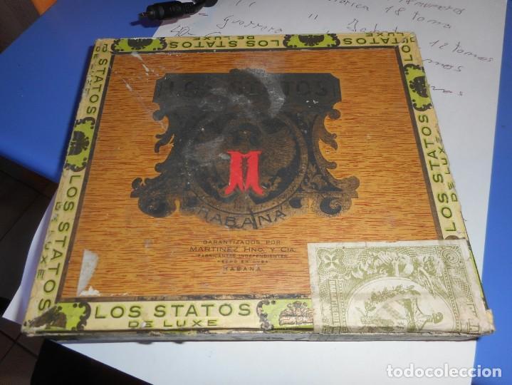 CAJA PUROS VACIA LOS STATOS DE LUXE HABANA CUBA (Coleccionismo - Objetos para Fumar - Cajas de Puros)