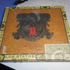 Cajas de Puros: CAJA PUROS VACIA LOS STATOS DE LUXE HABANA CUBA. Lote 145935498