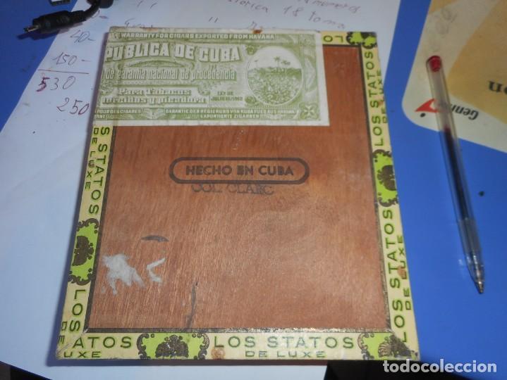 Cajas de Puros: caja puros vacia los statos de luxe habana cuba - Foto 2 - 145935498
